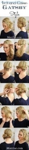 tuck and cover gatsby hair tutorial bmodish Diy Hairstyles, Pretty Hairstyles, Wedding Hairstyles, Great Gatsby Hairstyles, Vintage Hairstyles, Hairstyle Tutorials, Simple Hairstyles, Modern Hairstyles, Flapper Hairstyles