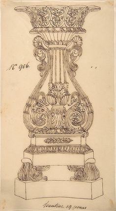Anonymous, French, 19th century | Design for a Candlestick | The Metropolitan Museum of Art