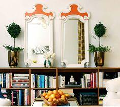Large Dining Room Wall Mirrors New 16 Interior Design Ideas with Mirrors Dining Room Walls, Living Room Furniture, Low Bookshelves, Bookshelf Styling, Low Shelves, Interior Decorating, Interior Design, Design Interiors, Decorating Ideas