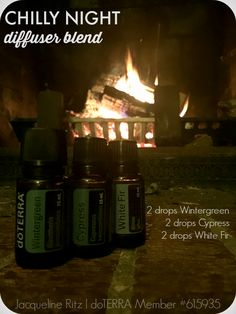 Chilly Night Diffuser Blend! www.thepaleomama.com/essential-oils 2 drops wintergreen, 2 drops cypress, 2 drops white fir. http://www.mydoterra.com/renitafullam/ doTERRA essential oils