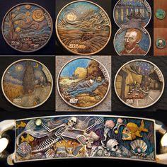 Hobo Nickel, Metal Artwork, Old Coins, Aluminum Metal, Metal Casting, Wedding Ring Bands, Monet, Precious Metals, My Images