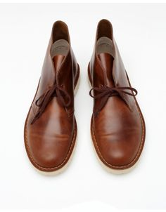 A chukka-inspired silhouette from Clarks, with two-eye lace up and treaded rubber sole. Clarks Desert Boot, Desert Boots, Foot Locker, Leather Shoes, Deserts, Kicks, Footwear, Lace Up, Chukka Boot