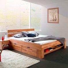 Solid wood bed EosWOOD made of core beech x 200 cm) Bedroom Furniture, Home Furniture, Furniture Design, Bedroom Decor, Furniture Online, Diy Bett, Room Interior, Interior Design, Bedroom Bed Design
