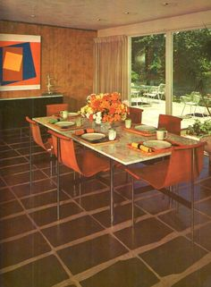 mid-century dining, House and Garden