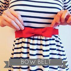 Bow Belt Tutorial by Tilly Walnes