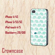 iphone 6 plus case,cute iphone 6 case,cool iphone 6 cover,iphone 6 case,iphone 6 cases,unique iphone 6 plus case,teal elephants,iphone6 case by CrownCase88