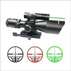 Vector Optics Sideswipe 2.5-10X 40 Dual Illuminated Scope with Green Laser Sight - $58.78 shipped