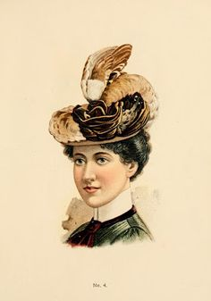 ThePaperSunflower: Fine Millinery--Fall and Winter Hats 1899-1900