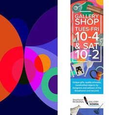ORBIT DESIGN will feature on the banner of the @shoalhaven_regional_gallery shop mid August! Woo hoo!