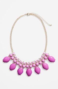 Prom fashion - Pretty purple statement necklace.