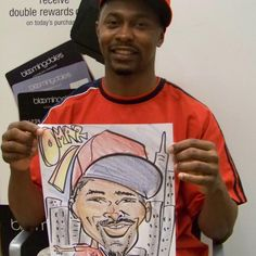 TBT drawing caricatures in 2008 at Bloomingdales for a promo event - wow how time flies! #NYSKETCHES