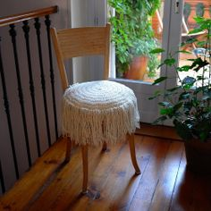 ao with <3 / coussin rond frangé beige | C Sathal