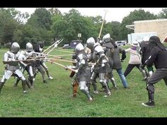 Another Group Melee! Watch V, Fencing, Knight, Horses, Group, Youtube, Weapons Guns, Warriors, Fences