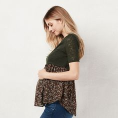 1d46cb5517ab0 LC Lauren Conrad Maternity Collection | Available at Kohl's Maternity Tops, Lc  Lauren Conrad,