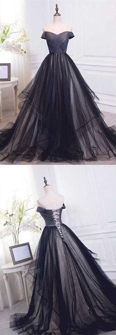 Charming Long Prom Dress,Off Shoulder Prom Dress,Evening Dress,MB 146