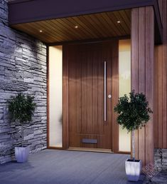56 ideas large modern entrance door for 201956 Ideas Large Front Door Entrance Modern for 2019 doorFront door ideas Ideas to update the front door - joyful derivativesCountless ideas on how to update your front Front Door Porch, Wooden Front Doors, Front Door Entrance, House Front Door, House Entrance, The Doors, Timber Front Door, Front Door Canopy Uk, Porch Timber