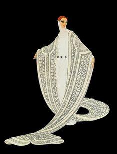 """Canal ~ Art """"Grace and elegance"""" Illustration by Romain de Tirtoff d . - Canal ~ Art """"Grace and elegance"""" Illustration by Romain de Tirtoff dit Erté - Art Vintage, Moda Vintage, Vintage Prints, Vintage Posters, Art Deco Illustration, Illustrations, Art Deco Print, Art Deco Design, Art Prints"""