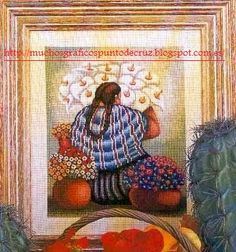 GRAFICOS PUNTO DE CRUZ GRATIS : MUJERES(26)