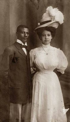 Black couple circa 1900