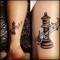 Black and white chess tattoo B Tattoo, Alien Tattoo, Body Art Tattoos, Couple Tattoo Quotes, Small Couple Tattoos, Small Tattoos, Chess Piece Tattoo, Pieces Tattoo, Ukrainian Tattoo