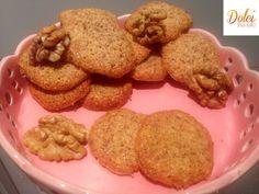 Le cialde dolci senza burro alle noci, i biscotti senza lattosio e glutine di dolci senza burro
