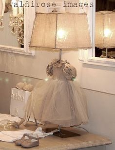 sweet french dress lamp!