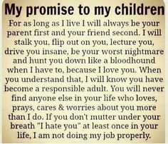 Love this, more parents should feel this way