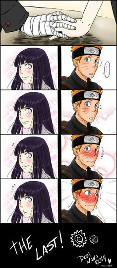 Hinata .... Mão and Naruto ... Love *-* eh vergonha #Naruto
