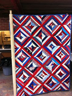 love, love, love this! I have collected red/white/blue material for about 10 years to do a patriotic quilt