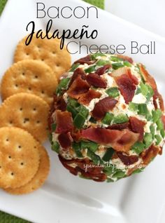 Bacon Jalapeno Cheese Ball! So delicious and definitely the hit of any party table!