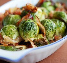 Anne's Favorite Thanksgiving Dish--Roasted Brussel Sprouts with Bacon and Chestnuts - Mezzaluna Fine Catering