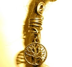 tree of life  dreadlock bead. :: Shop DreadStop.Com for Leather Dreadlock Cuffs, Ties & Dread Beads #dreadstop :: #dreadstop