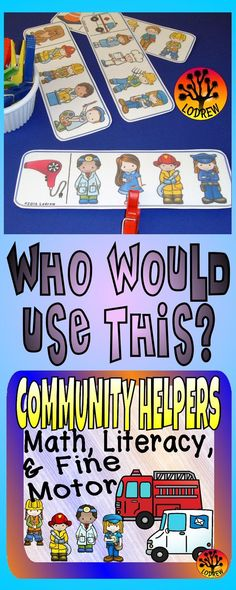 195 pages of Community Helpers centers. Activities include letter matching, question and answer, reading comprehension, mini book, one to one correspondence, subitizing, counting, tracing, no prep, pencil control, hands on tasks, emergent reader, patterns, visual discrimination, ten frames, number sets, scissor skills, cardinality, puzzles, tracing, fine motor, literacy, math, and more. For kindergarten, preschool, SPED, child care, homeschool, or any early childhood setting.