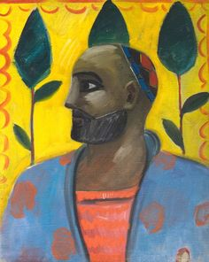 Uzbekistan - Piece of art called 'The Portrait Of An Uzbek Against The Yellow Background' by Ural Tansykbayev (1904-1974), oil on canvas from 1934. Photo by ozodlik.org (RFE/RL)