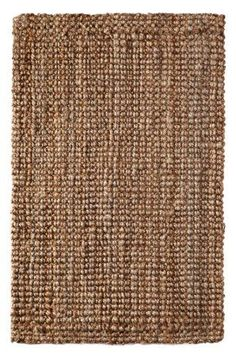 Iron Gate Handspun Jute Area Rug 5x8 Hand woven by Skilled Artisans, 100% Natural eco-friendly Jute yarns, Thick ribbed construction, Reversible for double the wear, Rug pad recommended