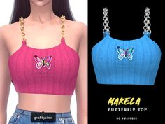 Sims 4 Teen, My Sims, Sims Cc, Sims 4 Curly Hair, Cc Top, The Sims 4 Packs, Sims 4 Gameplay, Sims 4 Clothing, Sims 4 Mods