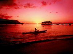 Coucher de soleil sur Hawaï #DestinationOneStep