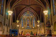 Catholic  Church  St John the Evangelist, ParIsh of Indianapolis, Georgia St, Archdiocese of Indianapolis, USA