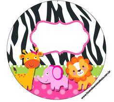 LARGE PRINTABLE SET http://fazendoanossafesta.com.br/2014/02/safari-para-meninas-kit-completo-digital-com-molduras-para-convites-rotulos-para-guloseimas-lembrancinhas-e-imagens.html