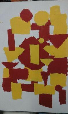 Gescheurd gekleurd papier