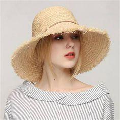 b828c1b9d 28 Best Raw edge straw hat for women sun hats images in 2017 | Sun ...