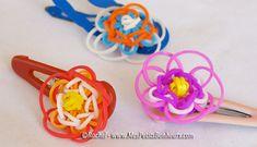 fleurs en élastiques pour bracelet et barrettes