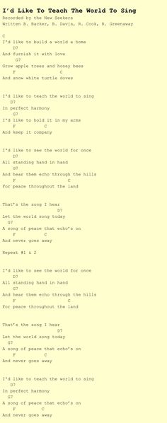 Song Lyrics with guitar chords for Happy Together | guitar songs ...