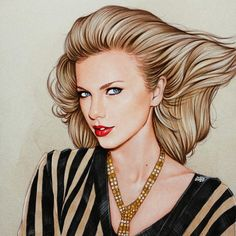 Taylor Swift fan art from Vanity Fair photo shoot. By: @theartofdreams.