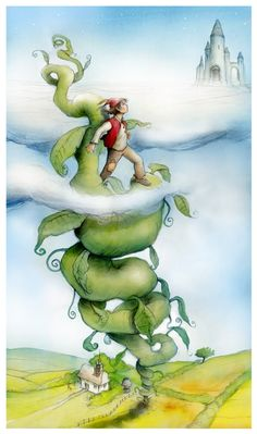 """Jack And The Beanstalk "" by Benjamin Tabart - An Old English Fairy Tale"