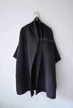 oversized black coat *sigh