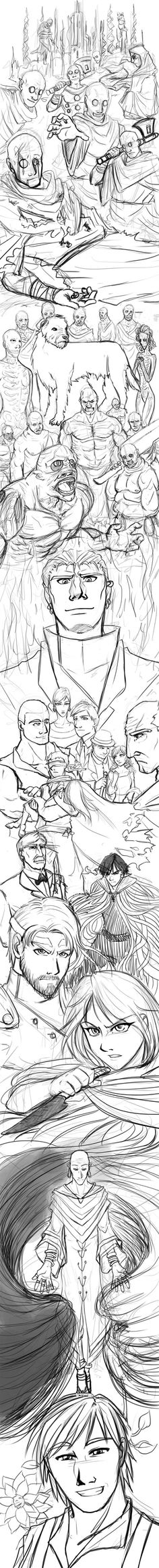 HOLY CROW!!!  Amazing...  my favorite Mistborn fan art by far. 'Mistborn Tribute in progress by ~axt234 on deviantART'