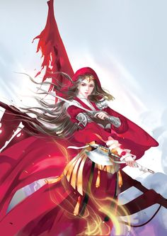 Is fantasy your favorite genre? You can always read the fresh and creative works here. Fire Warrior, Japanese Mythology, Dark Anime Girl, Fire Art, Painting Of Girl, China Girl, Fantasy Women, Fantasy Artwork, Chinese Art