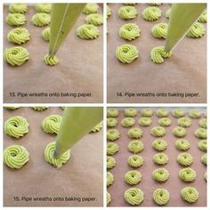pandan butter cookies, butter cookies, cookies, pandan cookies, chinese new year cookies