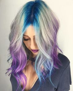 #VPInspiration} Look at this roots and ends by @stephygnarstagram 💜💙💜 More hair inspirations, please follow @vpfashion